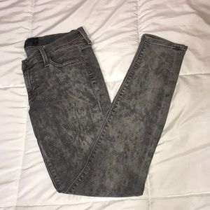 Lucky Brand Acid Wash Charlie Skinny Jeans